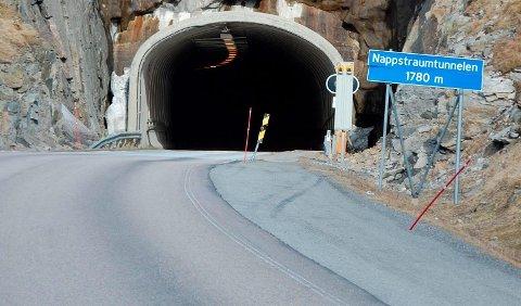 MINDRE SOMMERTRAFIKK: 11.000 færre biler passerte Nappstraumtunnelen i de to første ferieukene i juli sammenlignet med fjoråret.