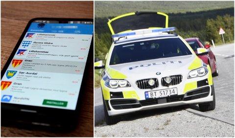 Det finnes opptil flere apper for varsling av trafikkontroller. UP regner bruk av disse for å varsle andre bilister som straffbart.