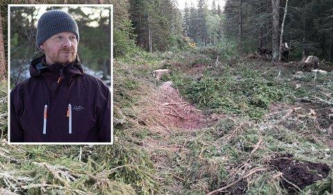 INNGREP: At det nå lages grøft for høyspent innenfor markaområdet får Sigurd Imsen til å reagere.