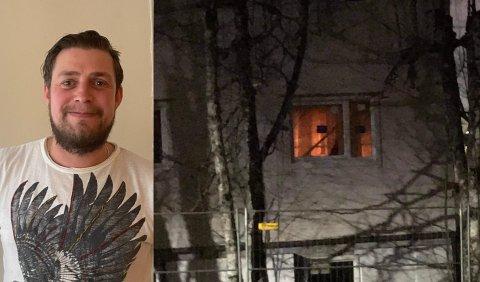 REAGERTE KJAPT: Dette synet møtte John Birger Vanvik, som varslet brannvesenet. Begge foto: Privat