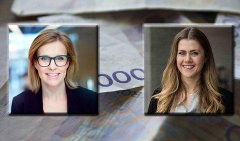Kristina Picard i Storebrand (til venstre) og Kristine Vestad i Bank2 forteller deg hva som er det mest fornuftige du kan bruke ferie- og skattepengene på.