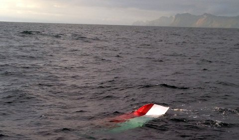 Her blir den tomme båten funnet. Foto: RS Dagfinn Paust