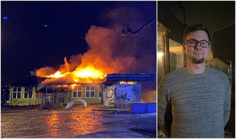 STORBRANN: Torje Willassen reagerer på at så mange kom for å se på brannen.
