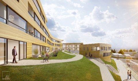 INNGANG: Fra inngangspartiet til det nye boligprosjektet ved Bjørnøygata.