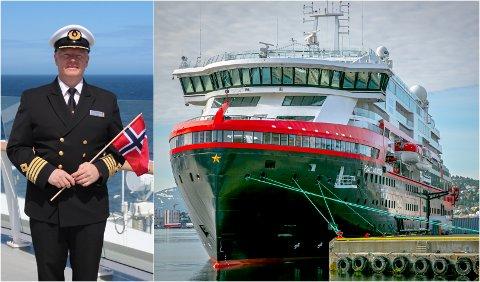 SLUTTER: Torry Sakkariassen er ferdig som flåtekaptein i Hurtigruten. Sakkariassen var øverste sjef på MS Roald Amundsen som la til kai med koronasmitte i Tromsø i fjor sommer.