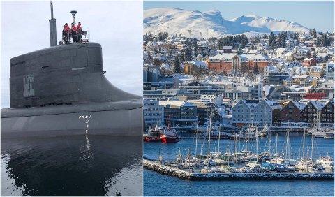 OPP FRA DYPET: Den amerikanske marinen offentliggjorde bilder av ubåten USS «Seawolf» utenfor Tromsø i fjor. Dette er blant USAs fremste ubåter og offentliggjøring av slike bilder er sjelden.