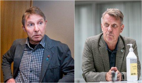 KRITISK: Rødts Jens Ingvald Olsen forstår ikke hvordan Tromsø-ordfører Gunnar Wilhelmsen (til høyre) kunne utnevnte Babcock-sjefen som styreleder i sitt nye næringsselskap.