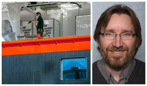 FORSKNINGSSTUDIE: Petter Elstrøm forteller om en egen studie på MS Roald Amundsen.