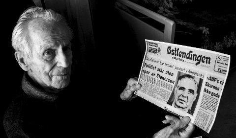 VITNE: Birger Sørli så drosjebilen til Gudmund Stenersen på Haarsetvollen i Rendalen den dagen han forsvant i 1972. Foto: Håvard Lillebo
