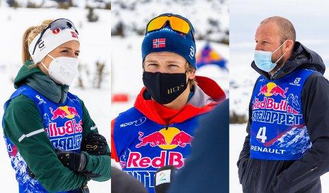 Stjernespekket felt: Therese Johaug, Johannes Høsflot Klæbo og Aksel Lund Svindal stilte alle til start i det 20 kilometer lange Janteloppet på Pellestova lørdag formiddag.