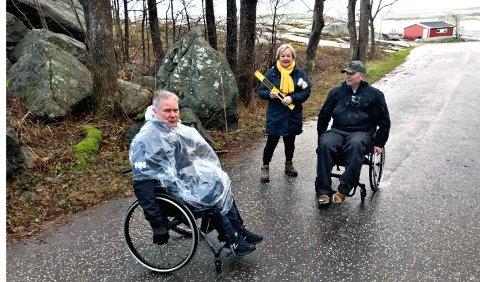 Rune Asheim, Magda Flatmo og Rune Johansen dro på befaring på Verdens Ende.