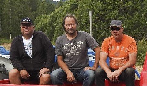 Klare: Egil Tollefsen, Jørn Reidar Kjellemyr og Morten Åby er klare for Kjellemyrmarked.