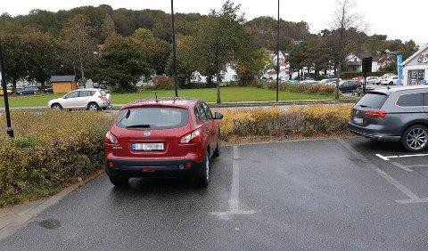 MARKERING: Er forskjellen på ny og gammel parkering godt nok markert? Foto: Privat