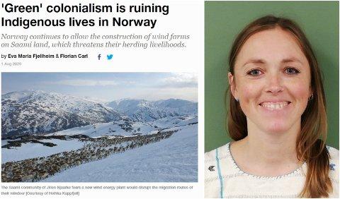 ENGASJERT: Susanne Normann, stipendiat ved Universitetet i Oslo. Hun har engasjert seg mye i Øyfjellet vindkraftverk, og skriver for tiden en doktorgrad hvor hun har sett på konsekvenser av og erfaringer med klimatiltak i urfolksområder i Norge og Brasil.