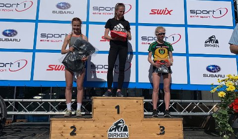 Nummer to i Birken: Julie Jeistad fra Lismarka leverte et kjempeløp i jenter 16 år.
