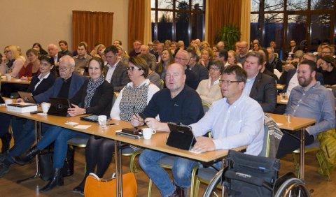 Kommunestyrene i Hole, Ringerike og Jevnaker var samlet til møte om kommunereformen. Politikerne fikk mye informasjon, men gikk ikke inn i en debatt om for eller mot storkommune.