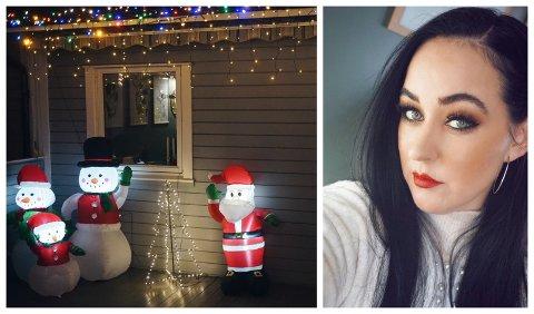 PYNTER TIDLIG: Flere gjør som Lene Jenssen, og pynter ekstra tidlig til jul i år på grunn av koronapandemien.