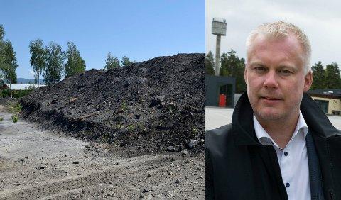 MÅ GODKJENNES: Før tiltak er godkjent, kan ingen gjøre noe med massene på Helgelandsmoen, ifølge Morten Pettersen i XPND.