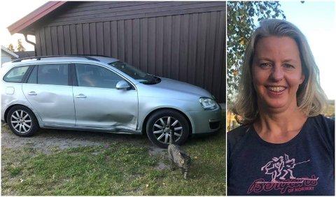BIL TIL SALGS - UTEN KATT: Ragnhild har lagt ut bilen sin for salg på Facebook. Katten som lyder navnet Minipus følger imidlertid ikke med på kjøpet.