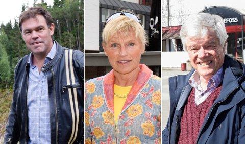 RETTSMØTE: Jan Solberg (t.h.) var den eneste av de tre som var i rettsbygningen i Hønefoss. Mette Sønsteby forklarte seg på telefon, mens Frederik Skarstein ikke var med denne gang.