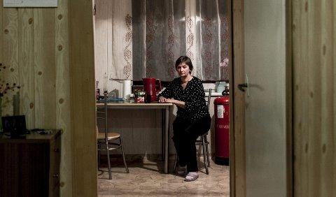 Alene: Moren Nijole Kuliesiene sørger over tapet av en sønn. – Han var lyset og optimismen i livet mitt. Jeg har ikke lenger noe å leve for, sier hun.FOTO: Benas Gerdziunas