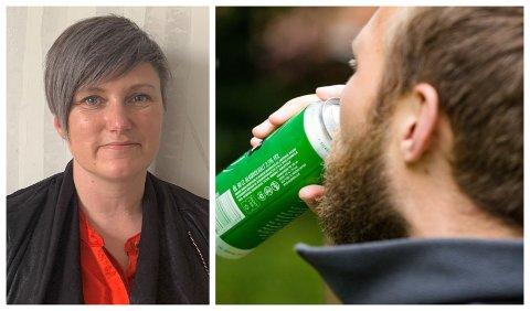 BEKYMRET: Barnevernsleder Sissel Bjørsvik i Holmestrand kommune er bekymret for at enkelte foreldre kan døyve korona-bekymringer med alkohol.