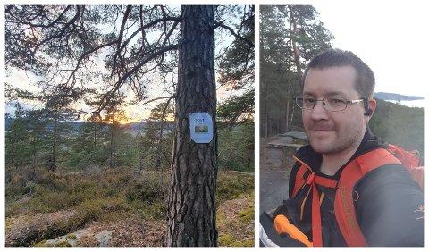 UT PÅ TUR I PÅSKEN: Sverre Rakkenes har laget turorientering for alle, med god plass mellom postene og en rekke spiseplasser.