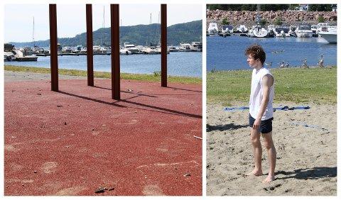 IKKE GODT FØRSTEINNTRYKK: Simen Pedersen var med klassen sin og hadde sommeravslutning. Han ble overrasket over hvordan det så ut.