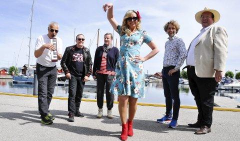KONSERTKLARE: F.v. Rune Jensen, Geir Langslet, kulturkonsulent Sonja Søtje-Andresen, Christine Meyer, Jan-Tore Saltnes og Jan Kristian Hverven.