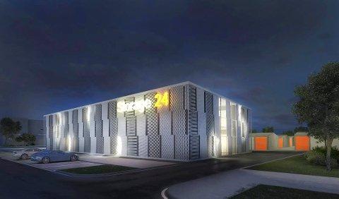LAGER: Storage24 er betegnelsen på en type lagerbygg som skal bygges på Vindal. (Illustrasjon: S24 Holding Norway)