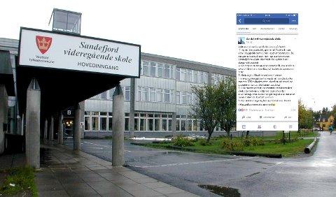 FIKK LEKSE: Elevene på SVGS fikk en liste med lekser fra rektoren.