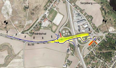 NY BRU: Langs riksvei 111 på Årum skal det bygges en ekstra bru. Informasjon om brua og andre planer for området kan innbyggerne få på et informasjonsmøte 7. februar.