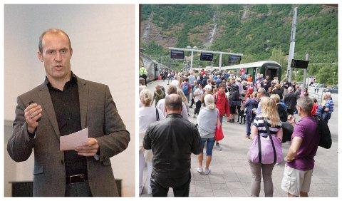 IKKJE NØDVENDIGVIS FLÅM: - Det er ikkje sikkert det er Flåm som har dei største utfordringane, seier direktør i Visit Sognefjord, Ståle Brandshaug.