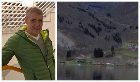 SMIL: Kristoffer Dale er ein av få som smiler over høge straumprisar. Han er medeigar i Dale Kraft i Sværefjorden.