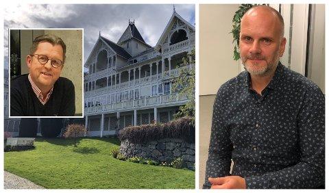 PLANLEGG HOVUDSAKLEG FOR NORSKE GJESTER: Hotelleigar Sigurd Kvikne i Balestrand og HR-sjef Nils Asbjørn Lie i Flåm AS forheld seg til at grensene er stengde for tida.