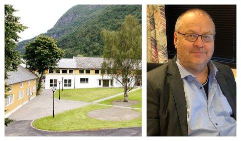 ENDÅ EIN NY SØKNADSFRIST: Geir Kjetil Øvstetun er konstituert rektor ved Sogn Jord- og Hagebruksskule ettersom Vestland fylkeskommune har slite med å finna ny sjef her. No er søknadsfristen på ny utsett.