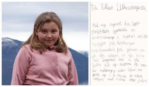 BREV: Maja Rydningen Hamre sende brev til Sogndal kommune og ber dei rusta opp att Fløy C på Leikanger ungdomsskule.