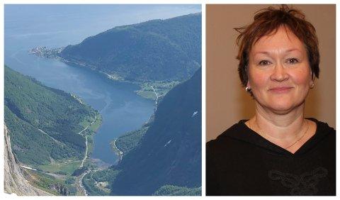 771 MILLIONAR: Fylkespolitikar Marthe Hammer (SV) lurte på om rassikring av Esefjorden kan gjerast på anna måte enn ved brubygging. Fylkesdirektør Dina Lefdal (biletet) held på bruløysinga.