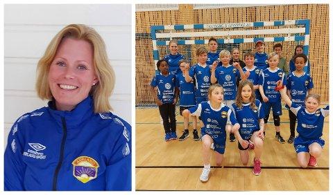 TESTA PARKETTEN: 21 born deltok i miniturneringa, som May Britt Martinsen i Aurland handball framhevar som flott markering ein spesiell sesong.
