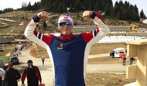 VISTE MUSKLER: Mikael Gunnulfsen leverer den ene gode prestasjonen etter den andre. Tirsdag gikk han inn til VM-medalje i Romania.FOTO: KJETIL VALLA GUNNULFSEN