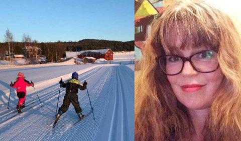 VIL HA SLUTT PÅ LEKSER: – Vi trenger tid til å være sammen som familie, bake boller og snakke om det barna undrer på. Det er mye læring i det, sier Anne Larsen, firebarnsmor og lærer. Her er barna Sigve (6) og Ingeborg (7) på skitur. Foto: Privat