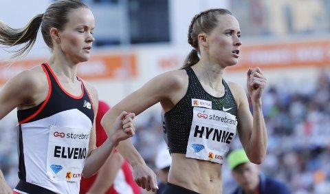EM NESTE: Hedda Hynne, her i aksjon på 800m for kvinner under Bislett Games, er mer enn klar for EM i Berlin som starter mandag. Foto: Cornelius Poppe / NTB scanpix