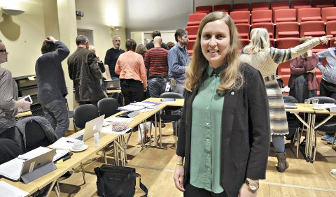 Fornøyd: Kommunestyrets yngste medlem, Ingrid Waagen, fikk gjennomslag for å redusere betalingssatsene i Tingvollhallen med 10 prosent.