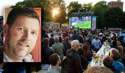 Geir Oterhals i Fotballfesten skal igjen arrangere VM-fest på Kontraskjæret.