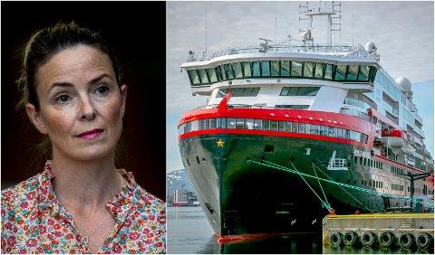 Kommuneoverlege Kathrine Kristoffersen i Tromsø kommune måtte gjentatte ganger purre for å få oversendt passasjerlister fra Hurtigrutens MS Roald Amundsen.