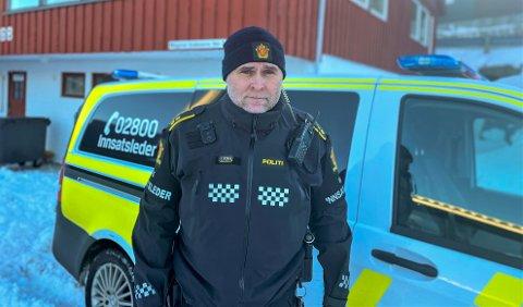 Innsatsleder Øyvind Kvalvaag regner med at letemannskapet blir ferdige med å søke i områdene rundt KFK-lokalene, KBK-stadion og Folkeparken i løpet av tirsdagen.