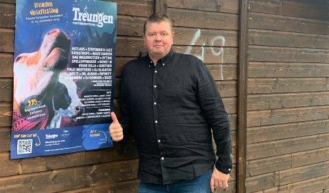 ARRANGØR: Jørgen Solberg er leder for Treungen: – Alle som nyter litt folkelig musikk og varierte sjangre kommer til å like festivalen, forteller Jørgen Solberg.
