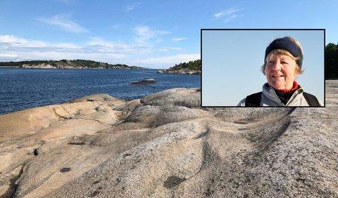 VAKKERT: Wenche Sandsten reagerer på forsøpling på stranda.