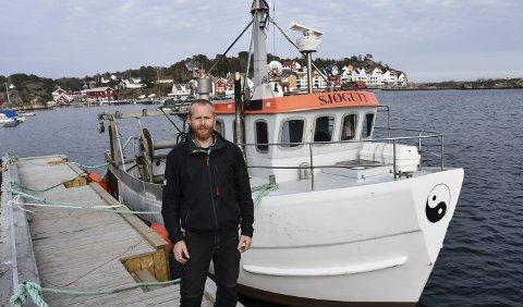Ny fiskebåt: Roger Løvdal Nilsen vil satse på rekefiske, og har nylig kjøpt denne reketråleren fra Danmark. Foto: Øystein K. Darbo