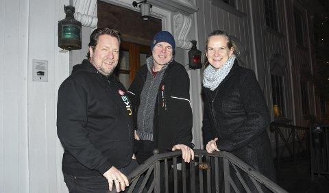 I Rådhuset: Frode Kirkeli, Ole Jonas Kverndal og May Zwilgmeyer er med i styret Uke 9, som blant annet vil ha et stort arrangement i rådhuset. Foto: Øystein K. Darbo